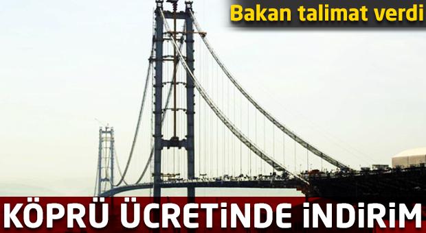 Köprü ücretinde indirim!
