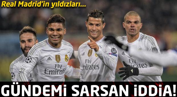 Gündemi sarsan iddia! Real Madrid'in yıldızları...