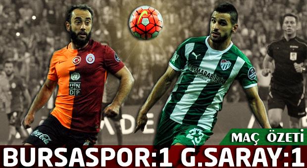 Bursaspor: 1 - Galatasaray: 1 | Maç özeti