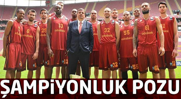 Galatasaray Odeabank'tan şampiyonluk pozu