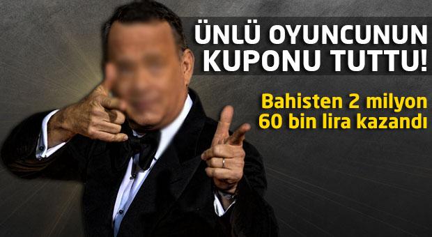 Tom Hanks bahisten 500 bin pound kazandı!