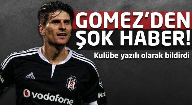 Beşiktaş'a Mario Gomez'den şok haber!