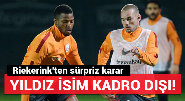 Riekerink'ten sürpriz karar!