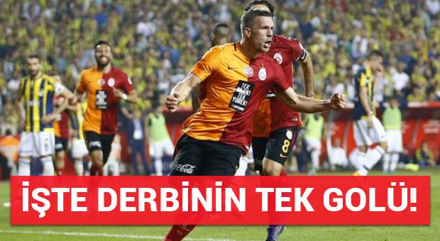 Dev maçta tek gol Podolski'den...