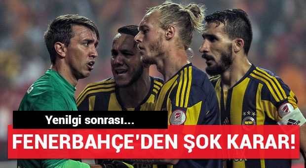 Fenerbahçe'den yenilgi sonrası şoke eden karar!