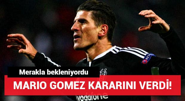 Mario Gomez kararını verdi! Beşiktaş...