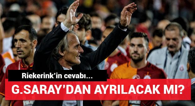 Riekerink Galatasaray'da kalacak mı? Cevabı...