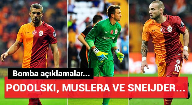 Podolski, Sneijder ve Muslera...