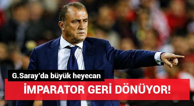 Galatasaray'da Fatih Terim heyecanı!