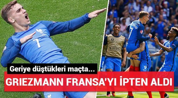 Griezmann Fransa'yı ipten aldı!