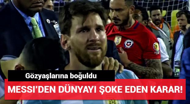 Lionel Messi milli takımı bıraktı!