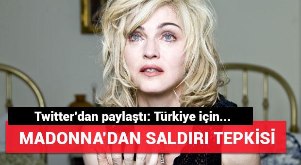 Madonna'dan Atatürk Havalimanı'daki saldırı sonrası tweet