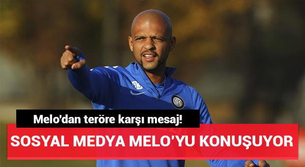 Melo'dan teröre karşı mesaj!
