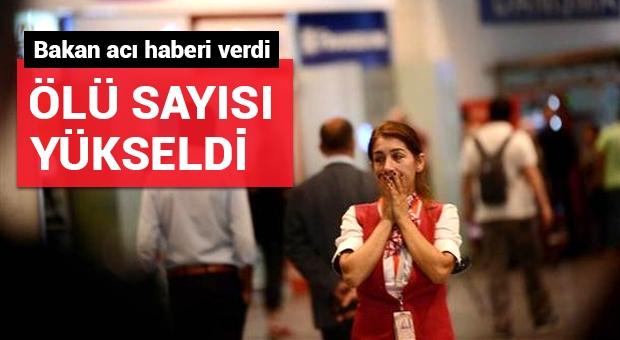 Atatürk Havalimanı'ndaki saldırıda ölü sayısı 44'e yükseldi