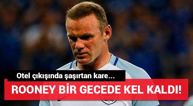 Rooney bir gecede kel kaldı!