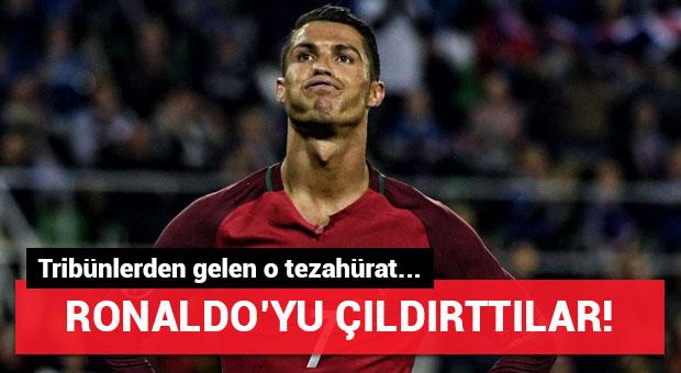 Polonyalı taraftarlar Ronaldo'yu çıldırttı!