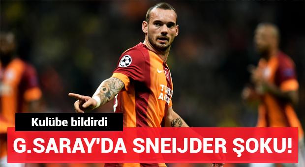 Galatasaray'da Sneijder şoku! Kulübe bildirdi