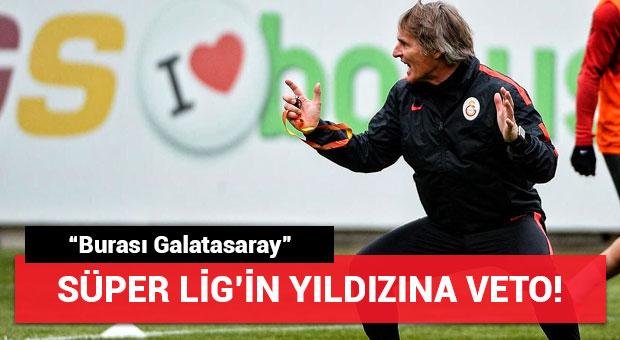 """Riekerink Süper Lig'in yıldızını veto etti! """"Burası Galatasaray"""""""