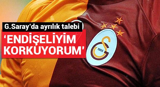 Galatasaray'da ayrılık talebi!