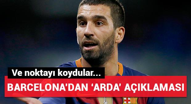 Barcelona'dan Arda Turan açıklaması!