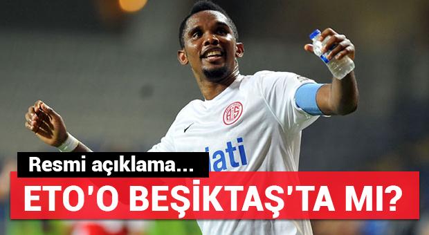Antalyaspor Eto'o açıklaması!