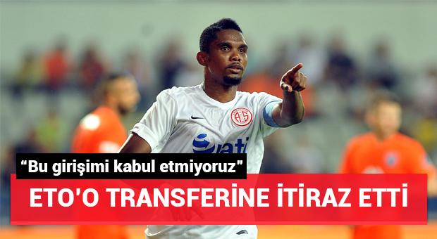 Antalyaspor Başkanı Öztürk'ten Beşiktaş'a Eto'o itirazı