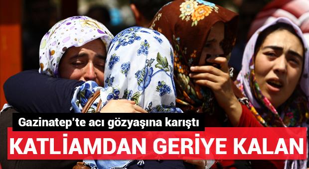 Gaziantep'teki saldırının ardından geriye bu görüntüler kaldı
