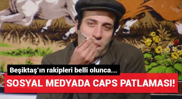 Beşiktaş'ın rakipleri belli olunca capsler patladı!