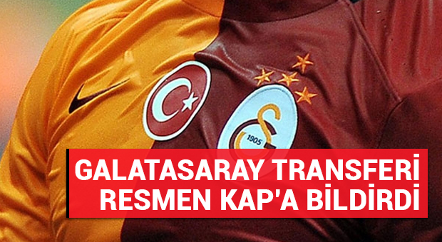Galatasaray, Kolbeinn Sigthorsson'u KAP'a bildirdi