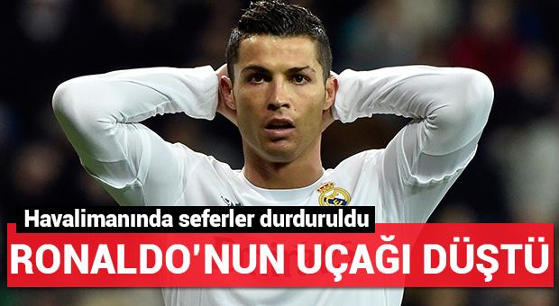 Cristiano Ronaldo'nun uçağı düştü!