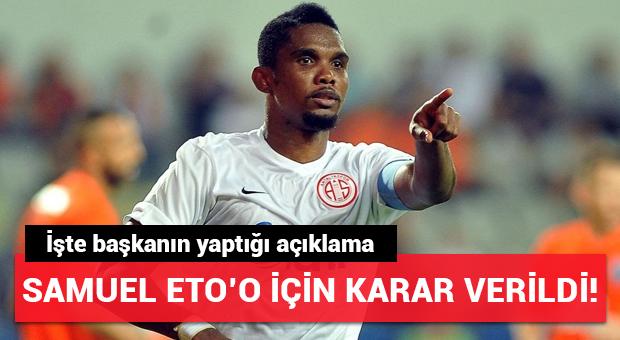 Antalyaspor'da Samuel Eto'o affedildi!