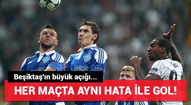 Beşiktaş her maçta aynı golü yedi!