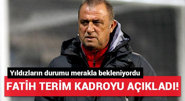 Fatih Terim A Milli Futbol Takımı kadrosunu açıkladı!