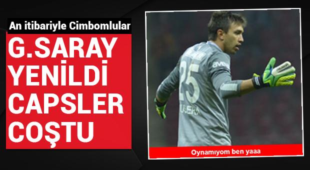 G.Saray, Trabzon'a yenildi, capsler coştu...