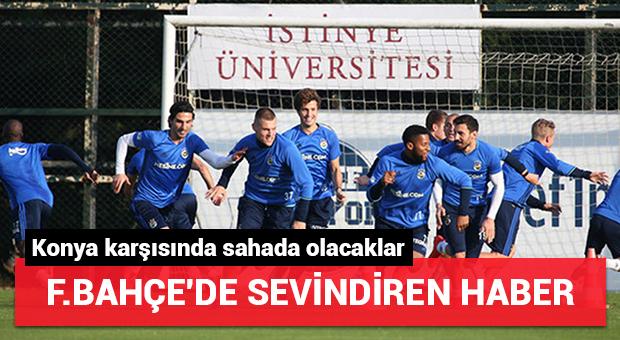Fenerbahçe'de sevindiren haber