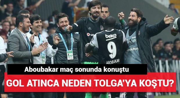 Aboubakar gol atınca Tolga'nın yanına koştu!