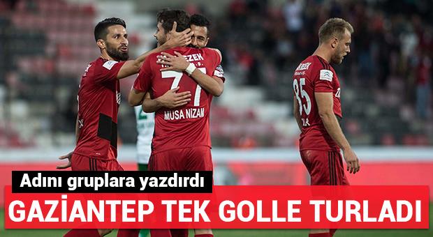 Gaziantepspor tek golle turladı!