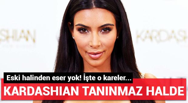 Kim Kardashian tanınmaz halde!