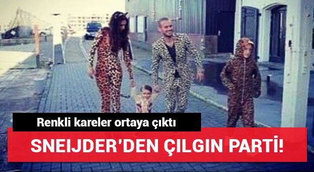 Sneijder'den oğluna çılgın parti!